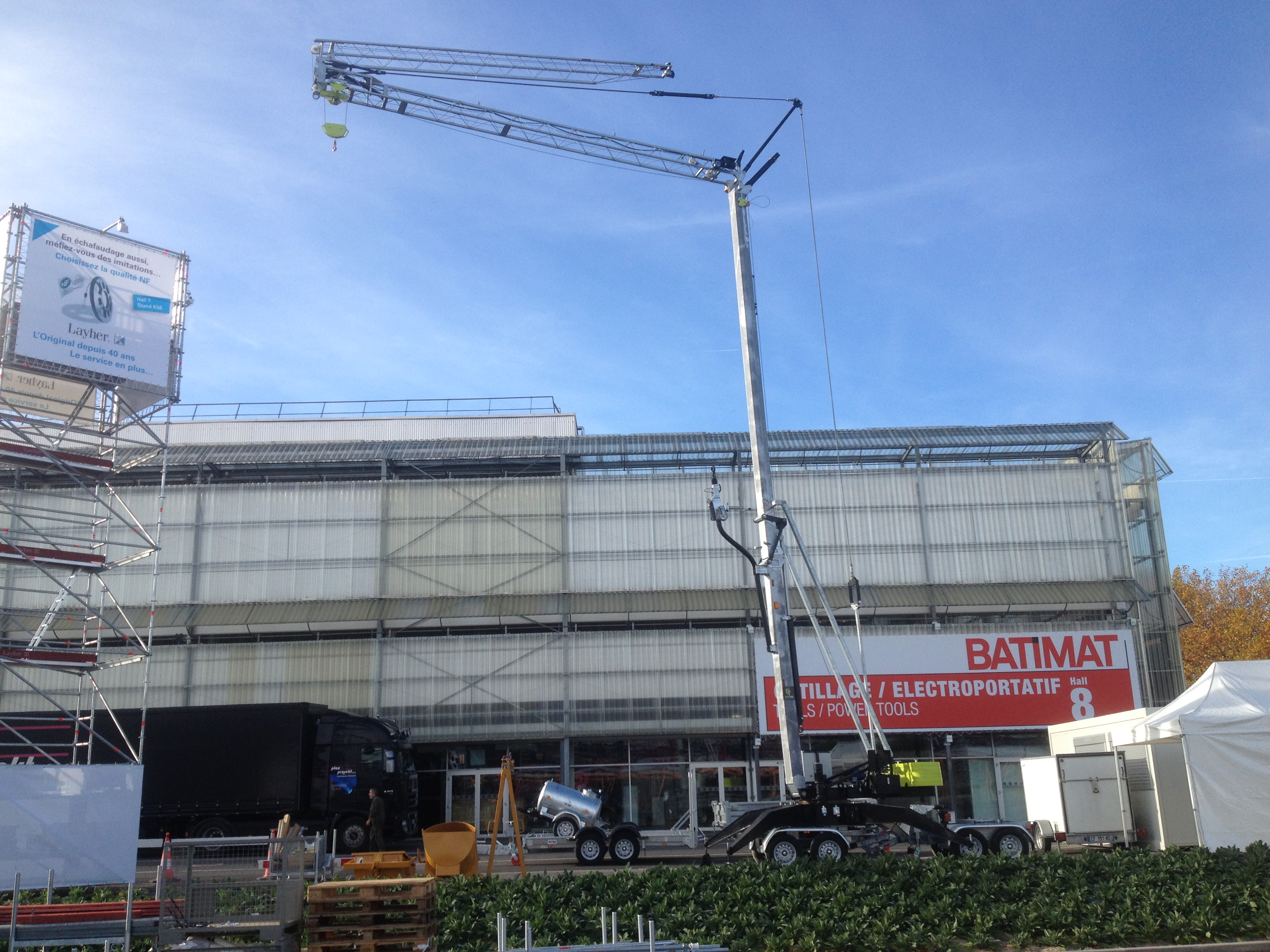 la SPEED CRANE à BATIMAT 2 au 6 novembre 2015