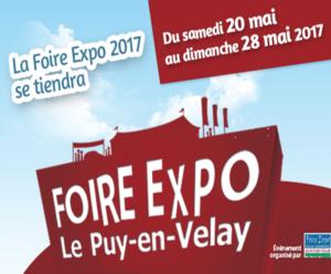 Du samedi 20 mai au 28 mai à la Foire du Puy en Velay