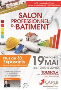 Vendredi 19 Mai salon des Professionnel du bâtiment du 79 à Parthenay