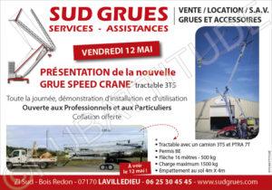 Le Vendredi 12 Mai à LAVILLEDIEU en Ardèche chez SUD GRUES SERVICES